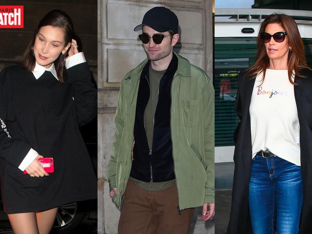 Robert Pattinson, Cindy Crawford, Bella Hadid… Les stars à Paris pour la Fashion Week