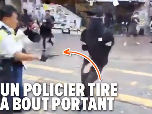 Chaos et violences à Hong Kong: un manifestant blessé par balle, un homme transformé en torche humaine