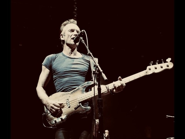 Sting, ancien bassiste de The Police, en concert au Zénith de Nancy en 2020