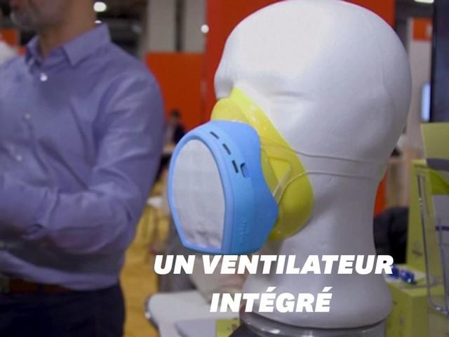 Ce masque anti-pollution de l'air vous alerte en temps réel