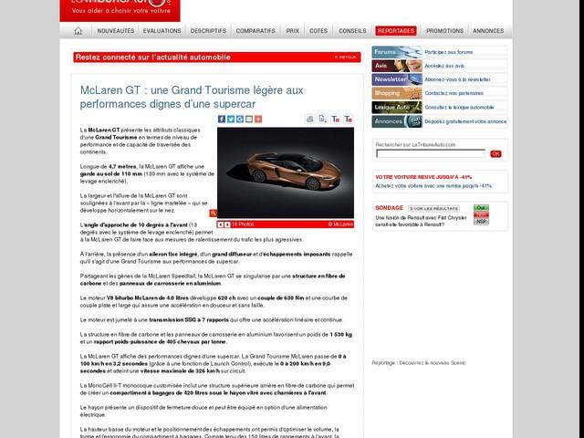 McLaren GT : une Grand Tourisme légère aux performances dignes d'une supercar
