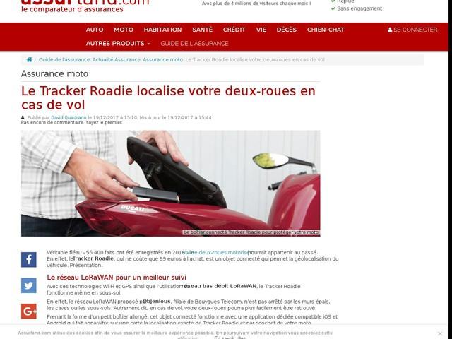 Le Tracker Roadie localise votre deux-roues en cas de vol