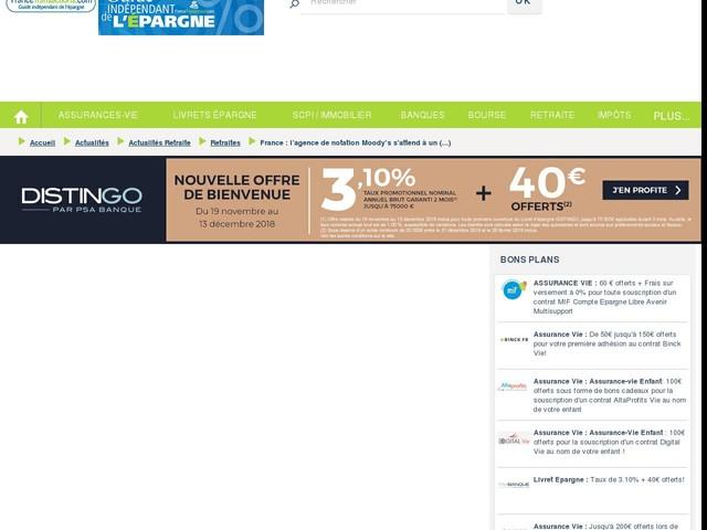 France : l'agence de notation Moody's s'attend à un ralentissement des réformes