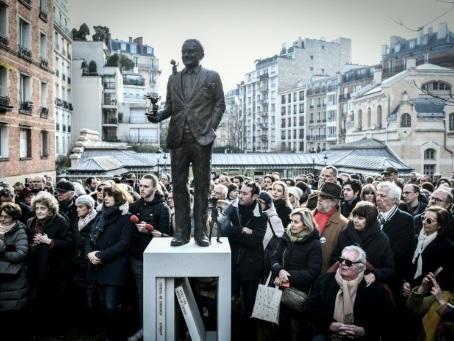Inauguration d'une statue en l'honneur de Goscinny à Paris