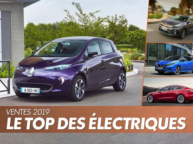 Les voitures électriques les plus vendues en France en 2019