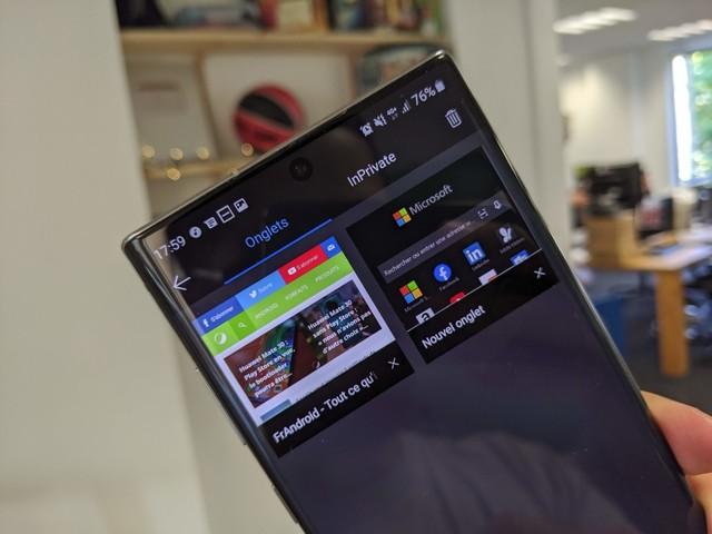 Microsof Edge sur Android accueille lui aussi un mode sombre