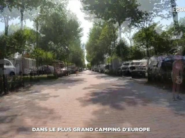 Dans le plus grand camping d'Europe