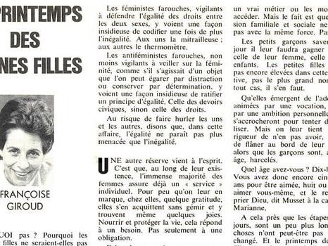 1969 - Françoise Giroud : les jeunes filles et le service national