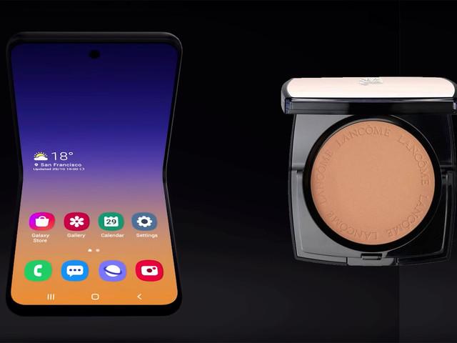 CES 2020 : le Galaxy Fold 2, alias Galaxy Bloom,inspiré du poudrier de Lancôme