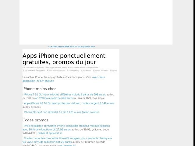 Apps iPhone ponctuellement gratuites, promos du jour