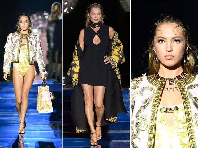 Kate Moss et sa fille Lila défilent ensemble pour Fendi et Versace