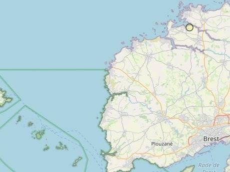 Séisme de faible intensité jeudi matin au nord de Brest