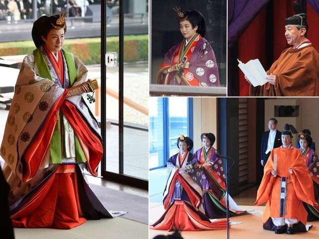 Intronisation de Naruhito: les somptueuses tenues de la famille impériale