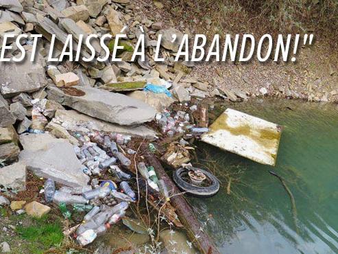 """Maude dénonce la crasse autour du """"Lac bleu"""" à Sprimont: """"Beaucoup vont le nettoyer, mais c'est à chaque fois pareil"""""""