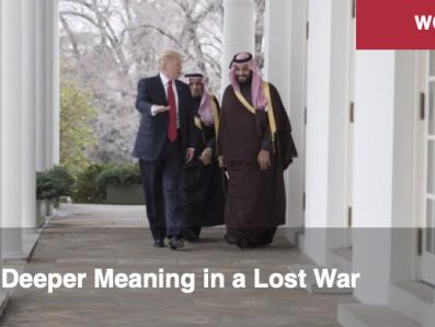 Le sens profond d'une guerre perdue. Par Alastair Crooke