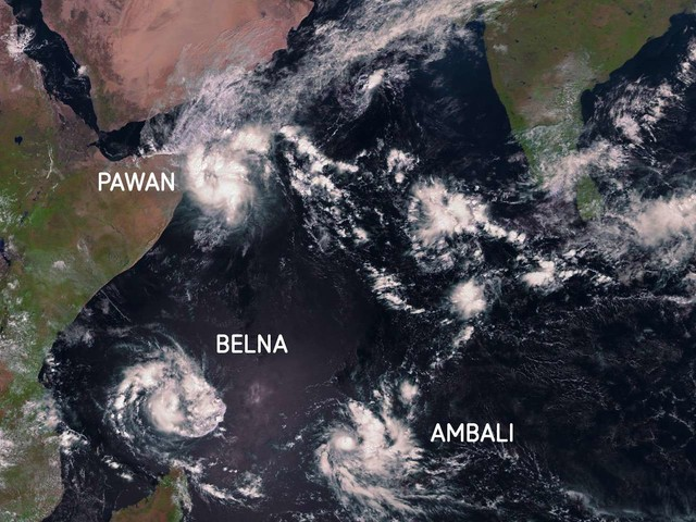 Tempêtes tropicales : le cyclone Belna frappe Madagascar