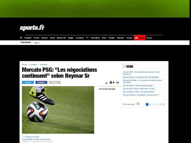 "Mercato PSG: ""Les négociations continuent"" selon Neymar Sr"