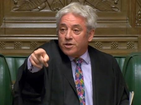 """GB : le """"speaker"""" John Bercow, personnage-clé qui enraye le Brexit de Johnson"""