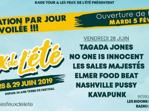 Festival Les Feux de l'été, édition 2019