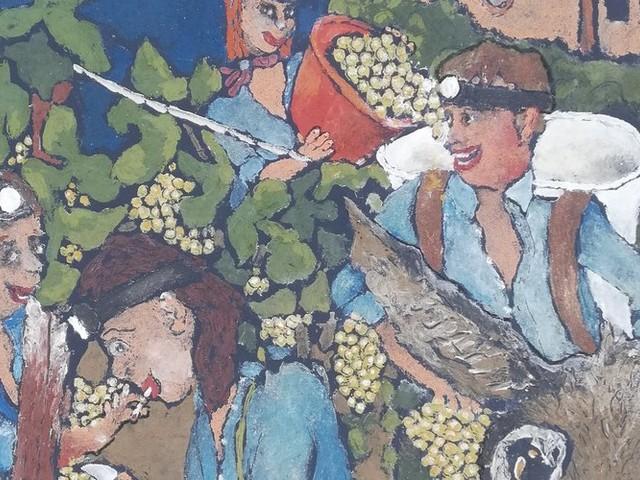 """Joseph Foxonet met le vin de """"mi-nuit"""" sur toile à Pia"""