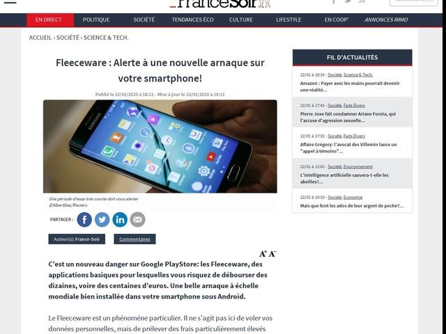 Fleeceware : Alerte à une nouvelle arnaque sur votre smartphone!