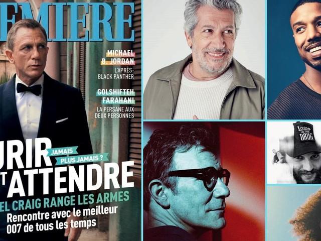Sommaire du Première n°504 : Daniel Craig, Alain Chabat, Michel Hazanavicius, Michael B. Jordan...