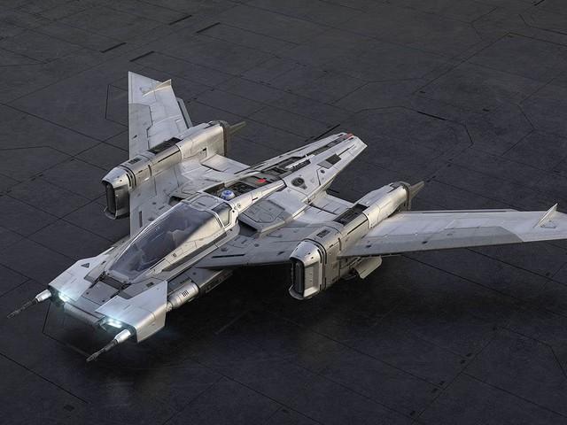 Porsche imagine un vaisseau Star Wars inspiré de sa Taycan