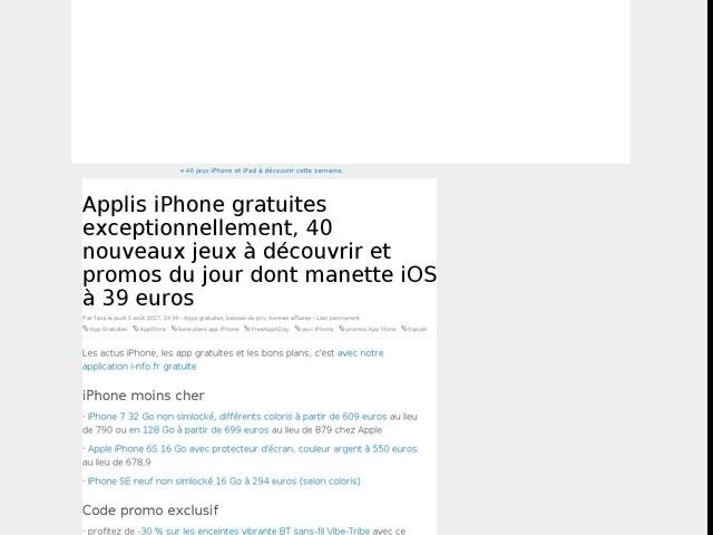 Applis iPhone gratuites exceptionnellement, 40 nouveaux jeux à découvrir et promos du jour dont manette iOS à 39 euros