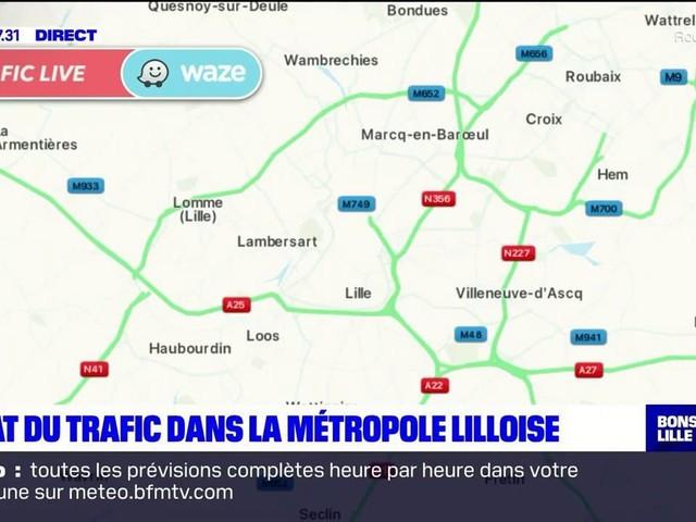 Trafic globalement fluide autour de Lille avant le couvre-feu à 18h