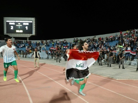"""Pour les Irakiens, un """"message"""" à l'Iran plus qu'une simple victoire au foot"""