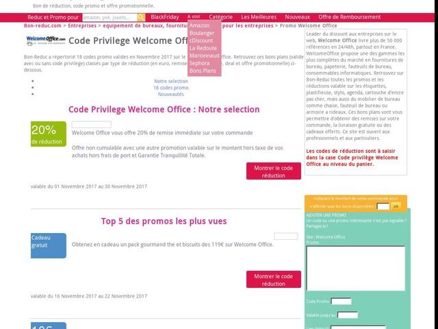 code privilege Welcome Office : Cadeau gratuit jusqu'au 25/11/2017 - promo 2128843