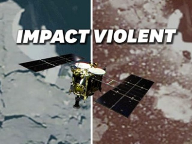 L'impact de la sonde Hayabusa2 avec un astéroïde comme si vous y étiez