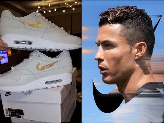 Cristiano Ronaldo reçoit une Air Max exclusive «Cristiano» en cadeau de Nike