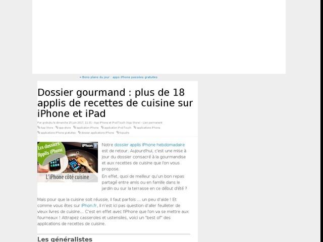 Dossier gourmand : plus de 18 applis de recettes de cuisine sur iPhone et iPad
