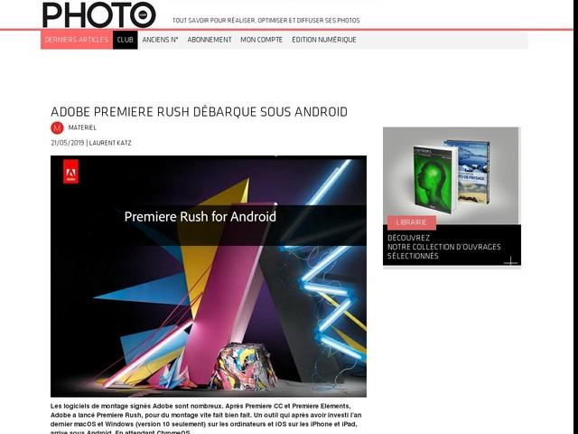 Adobe Premiere Rush débarque sous Android