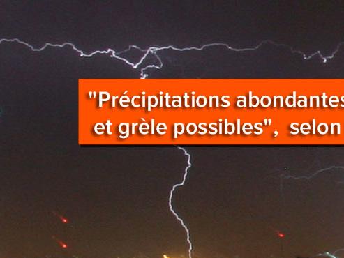 Prévisions météo: attention aux orages violents annoncés cette après-midi et en début de soirée