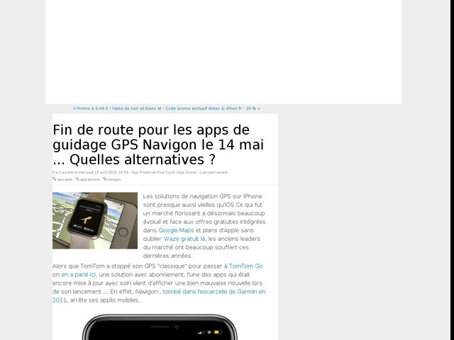 Fin de route pour les apps de guidage GPS Navigon le 14 mai ... Quelles alternatives ?