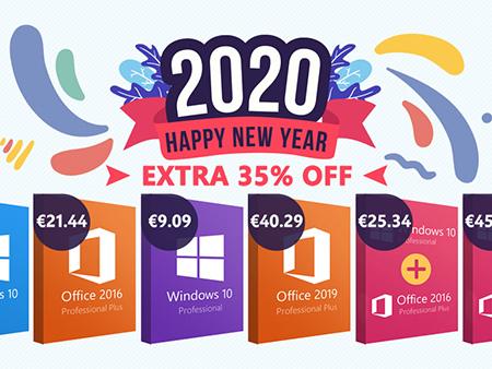 Les offres logicielles pour la nouvelle année : 35% de réduction sur les clés Microsoft, 25% de réduction sur les applications antivirus et de sécurité, etc… sur Keysworlds.com