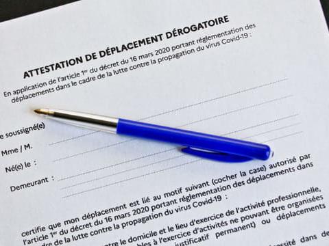 Attestation de déplacement dérogatoire: téléchargez-la en PDF. A imprimer ou recopier