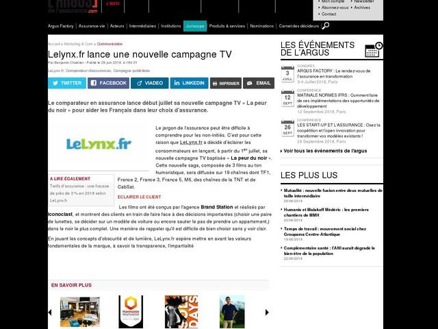 Lelynx.fr lance une nouvelle campagne TV