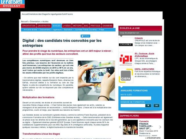 Digital : des candidats très convoités par les entreprises