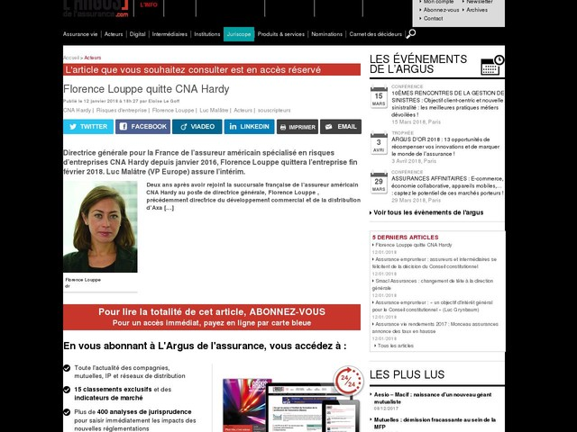 Florence Louppe quitte CNA Hardy