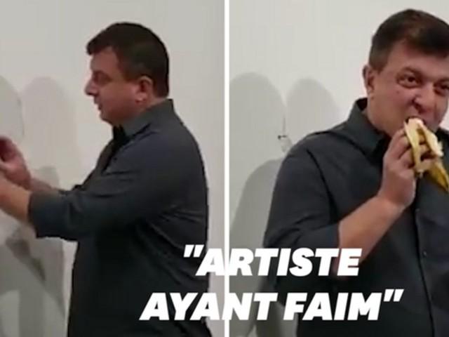 """L'artiste qui a mangé la banane à 120.000 dollars a """"attendu d'avoir faim"""""""
