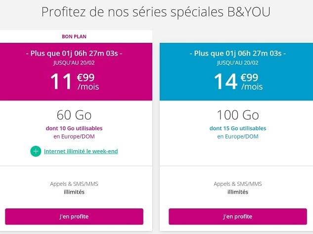 B&You vs Red by SFR : Bouygues propose aussi un forfait 100Go à petit prix