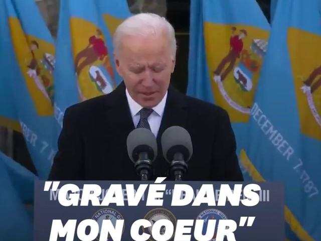 Joe Biden ému aux larmes la veille de son investiture à Washington