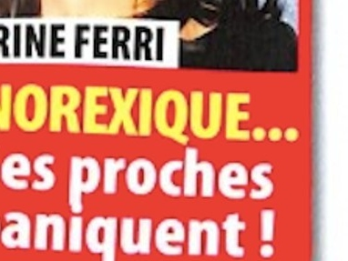 Karine Ferri  « rongée » par l'anorexie, la photo qui en dit long