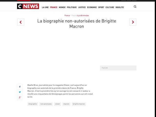 La biographie non-autorisées de Brigitte Macron