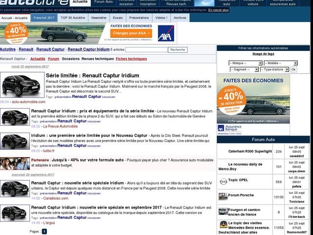 Renault Captur Iridium : prix et équipements de la série limitée