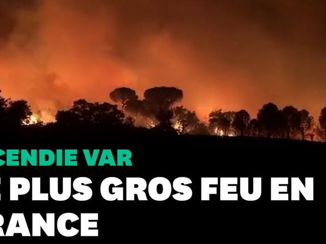 Les images de l'incendie dans le Var, le plus gros en France cet été