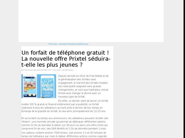 Un forfait de téléphone gratuit ! La nouvelle offre Prixtel séduira-t-elle les plus jeunes ?